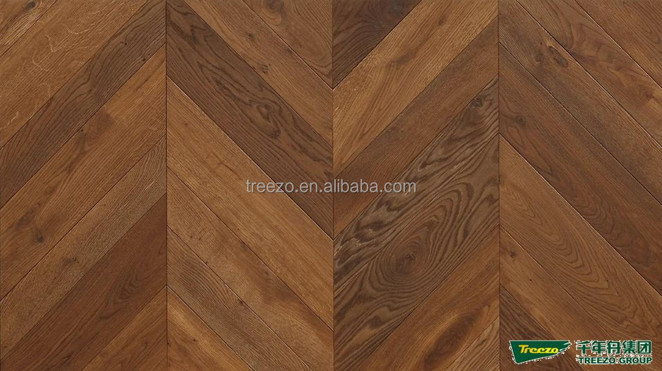 Fishbone 45 color double smoked oil natural Oak engineered wood flooring
