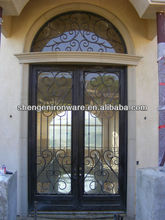 Antique Hand-forged Wrought Iron Entrance Door