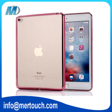 Electroplating transparent soft TPU thin cover case for ipad air 2 , clear tablet PC case for ipad 6