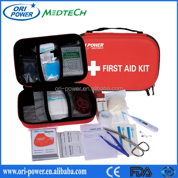 OP HOt Sell FDA CE ISO approved beauty kit medical dressing kit handy EVA travel emergency kit