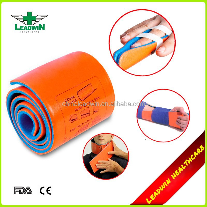 Medical First Aid Soft Fixing Aluminum Orthopedic Rolled Fracture Splint