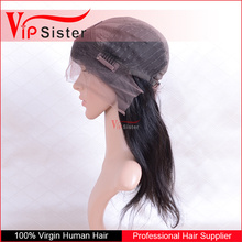 no acid real human front lace hair wig natural color 100 handmade brazilian lace front wig with baby hair