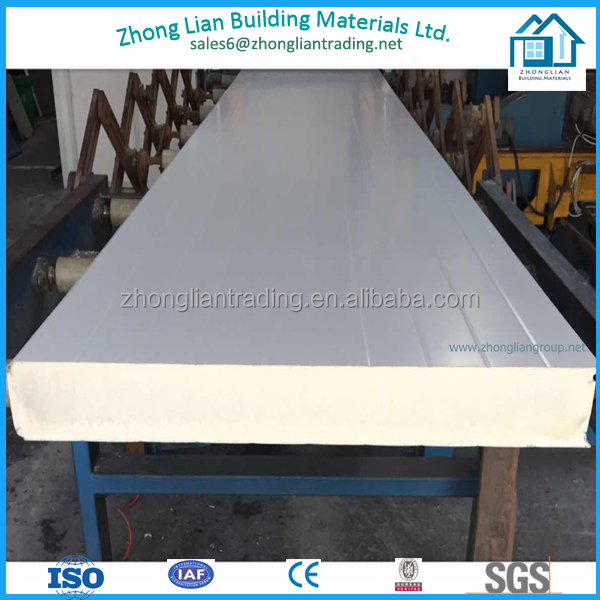 Polyurethane sandwich panel for roofing and wall