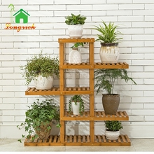 Wholesale Multi Functional Bamboo Stand Flower Display Pot Rack, Wooden Stand For Flowers