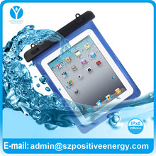 China supplier blue PVC waterproof pouch for mapan tablet pc for swimming