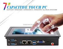 "7"" flatscreen industrial panel pc projected capacitive touchscreen all in one PC Gigabit Ethernet"
