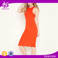 2016 shandao new arrival plain dyed cotton summer fashion sleeveless boutique dresses lahore