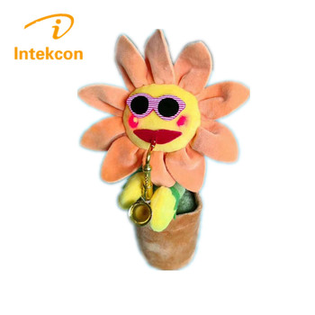Toy Dancing Flip Flap Solar Flower Solar Energy PlasticToys Swing Flowers