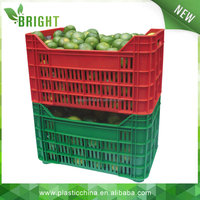 square stackable vegetable and fruit packaging box packing crate