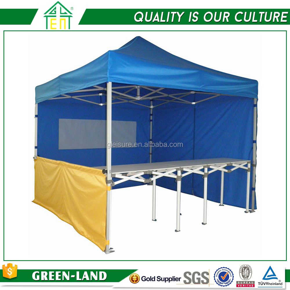 High quality outdoor aluminum pop up tents display rack half wall & folding table
