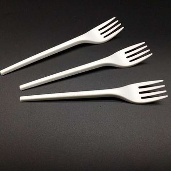 100% Biodegradable and compostable CPLA fork