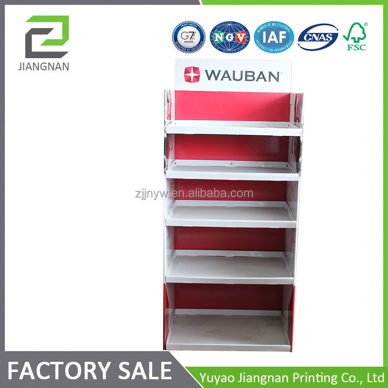 customized shoes display stand cardboard riser display