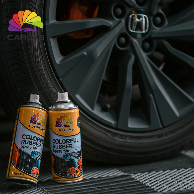 Carlas 400ml cars odorless acrylic spray rubber <strong>paint</strong>