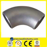ASTM A403 304/316 Long Radius 90 Degree Stainless Steel Pipe Bend Elbow Seamless Butt Weld Oil and Gas Pipe Fittings