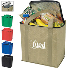 Large Polypropylene Resuable Insulated Tote Cooler Shopping Bag,Keeps Food Hot Or Cold