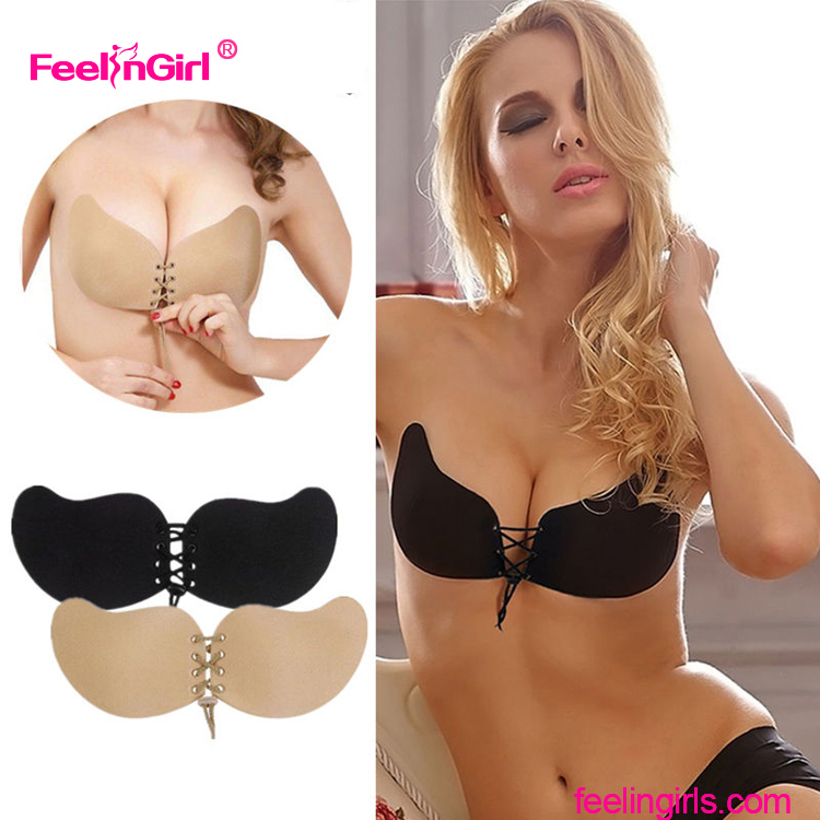 New Arrivals Latest Design Adhesive Invisible Hot Girl Sexy Push Up Bra