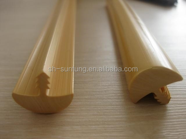 table corner cover extruded pvc T strips