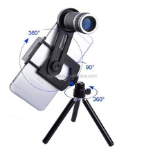 New products 2016 optical zoom camera mobile phone 8X telephoto lens kit with tripod and case for iphone se/6/6s