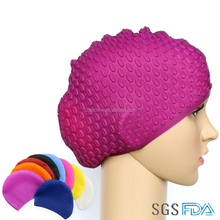 Factory outlet Colorful Water-drop Swimming cap Customized Adults and Kids Swim caps
