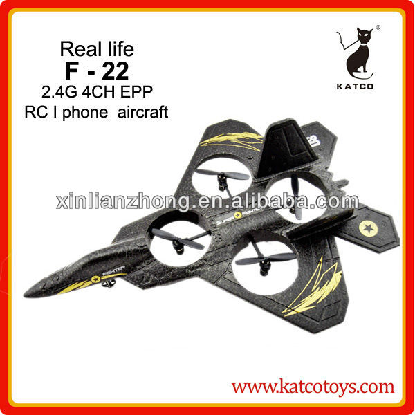 Model king 4 ch i phone control F-22 RC airplane