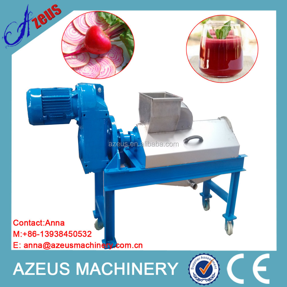 Automatic juice extractor for sugarbeet with single press