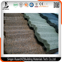 Metal Building Materials Mixed Colorful Stone Coated Steel Roofing Tiles for House Construction