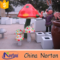 cheap resin outdoor large decorative mushrooms NTRS525S