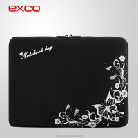 New style EXCO wholesale dust proof black EVA fashion design laptop ziplock carry bag for 13inch laptop