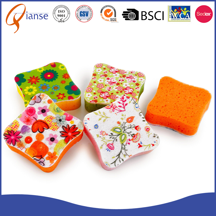 Customized size colorful kitchen cleaning sponge for dish washing