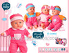 2013 New OEM music baby doll with lovely with sounds W21303D