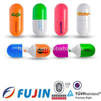 Capsule pill pen barrel shaped Highlighters/pharmaceutical promotion gift/promotional gifts for doctors