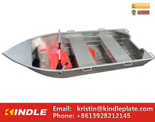Customized Folding Aluminum Fishing Work Boat with Paddle