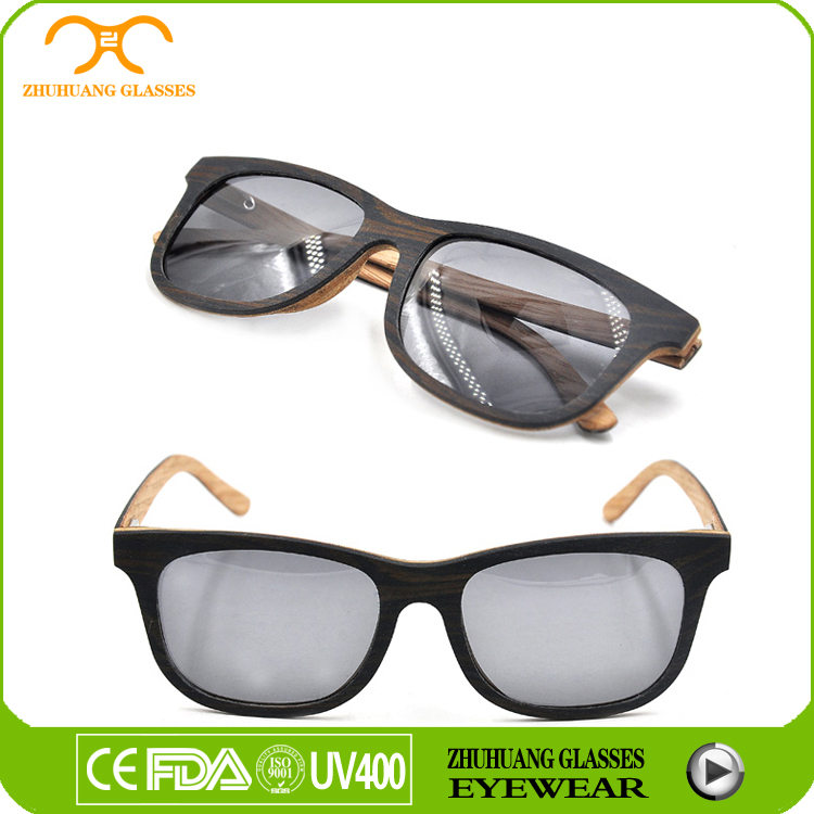 Round frame eye glasses, sunglases with logo, bamboo wood sunglasses