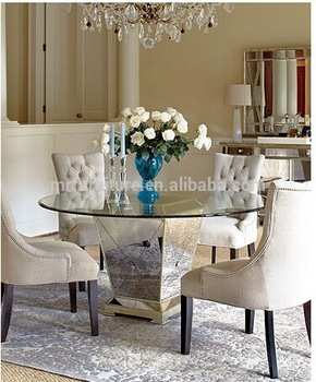 Perfect Hot Selling Round Mirrored Dining Table