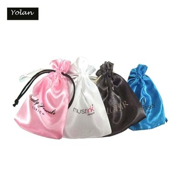Custom Satin Bag, satin hair extension bag