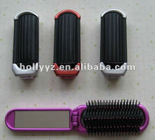Hot sale fashionable design folding comb and brush with mirror