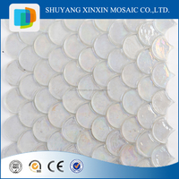 High quality fan shape mother of pearl mosaic tile for home decor