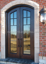 fancy exterior iron door with french style