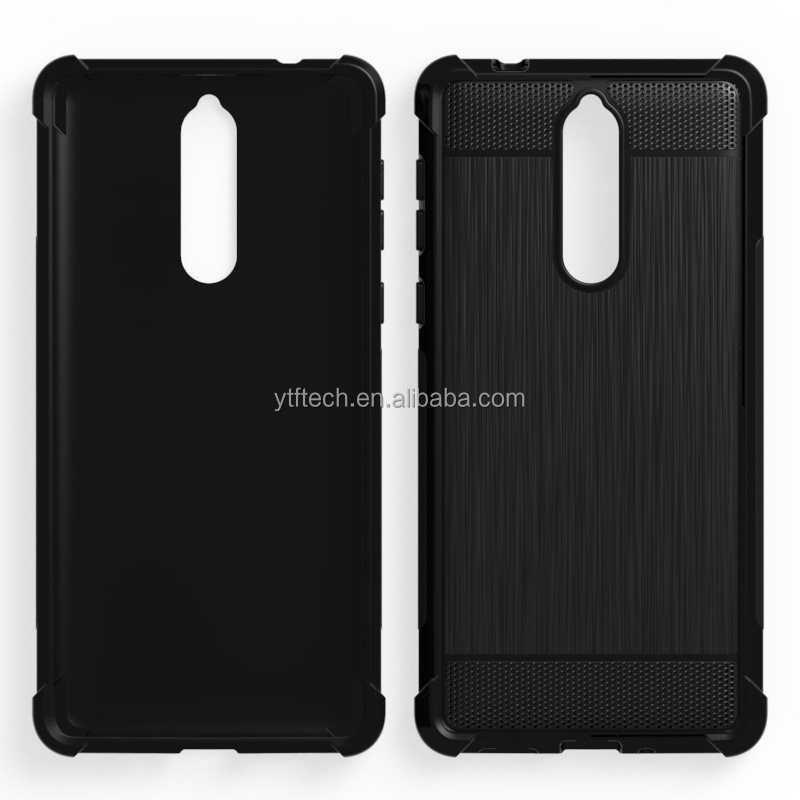 New Coming shock proof TPU case Brushed Style for Nokia 9 carbon fiber mobile phone cover