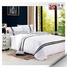 100% Cotton Wholesale Hotel Bedding Sets Super King White Hotel Linen Sheets