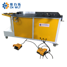 Manual operated spiral elbow forming machine
