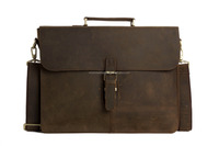 Wholesale 15'' Genuine Leather Briefcase Men Messenger Bag Laptop Bag 6107