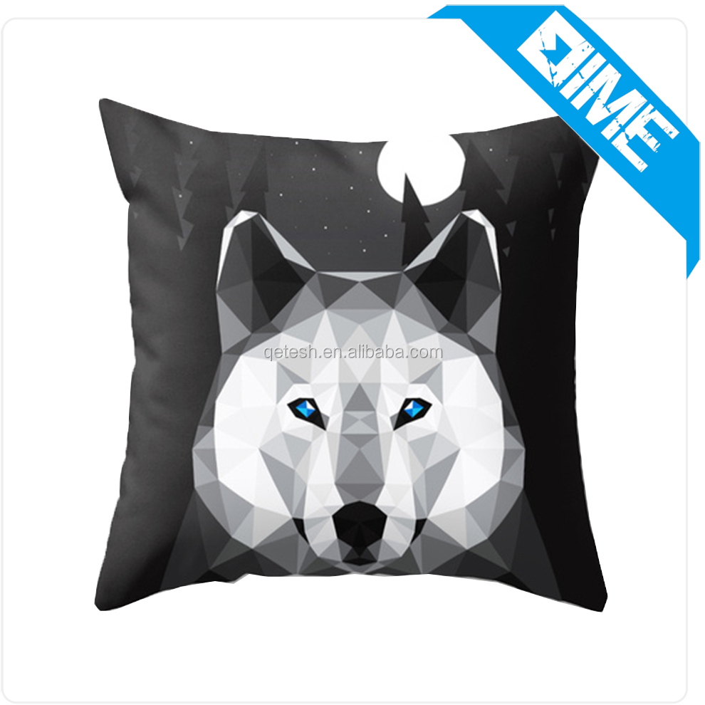 Custom New Design Cushion Cover Digital Printing Decorative Throw Pillow Case