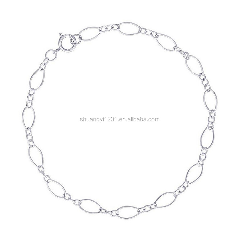 New Popular Stainless Steel Silver Tone Bracelets Making Chain Jewelry For Female