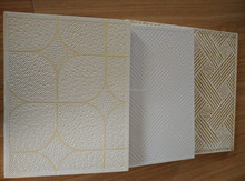 PVC Laminated Gypsum Ceiling / vinyl rock ceiling tile