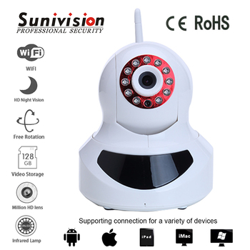 Home Security 720p p2p support robot wireless ip camera robot camera