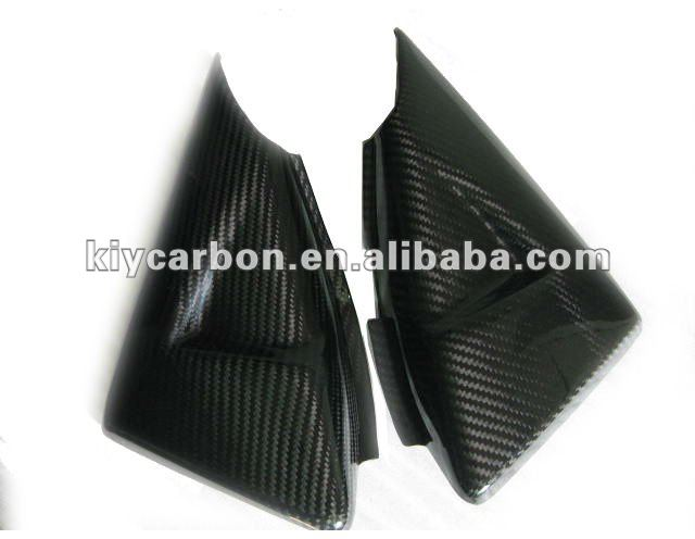 Dry carbon fiber motorcycle parts side tank cover for Suzuki