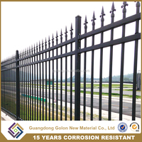 Wholesale alibaba garden decorations wrought iron fence designs, cheap yard fencing, anti climb security fence
