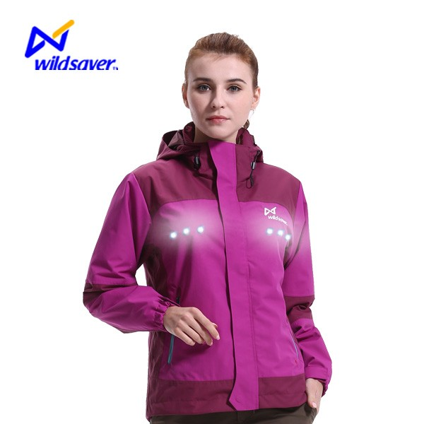Hi Vis waterproof LED nylon windbreaker