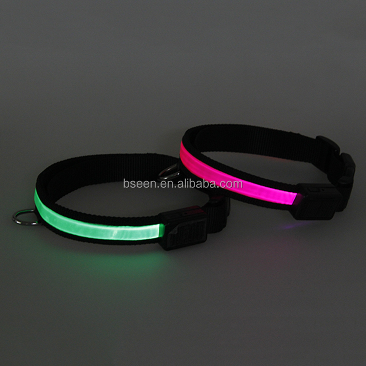 2017 Pet Favors Gifts Prodcut Beautiful Design Luminous Pet Accessories Colorful LED Bracelet Dog Collar